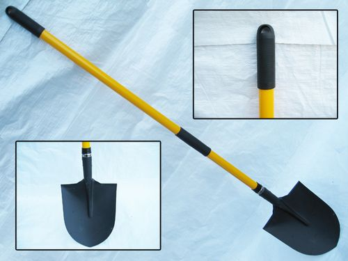 Round Mouth Shovel With Fibreglass Handle - Irish / American